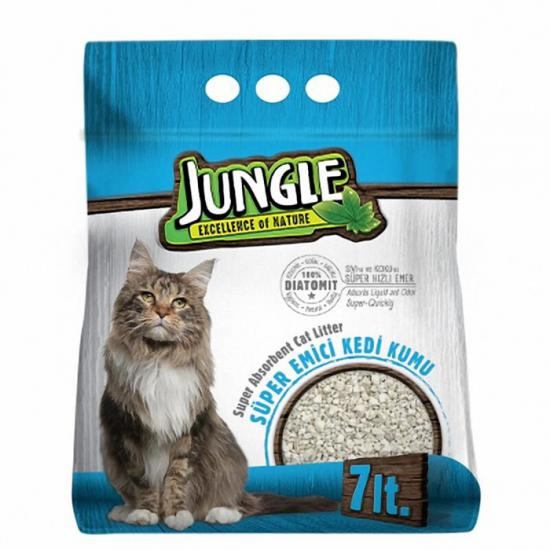 Jungle Diatomit Emici Kedi Kumu 7 Lt